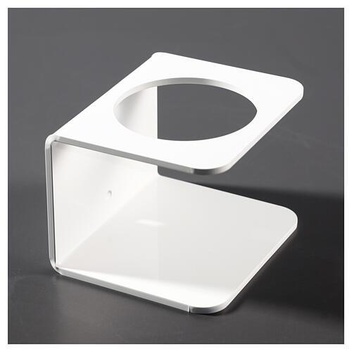 Porta dispenser in plexiglass Bianco per disinfettante 3