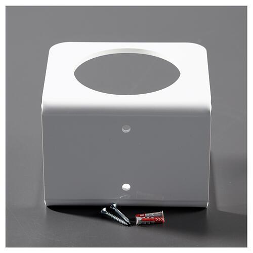 Suporte de parede em acrílico branco para distribuidor de gel desinfetante para mãos 4