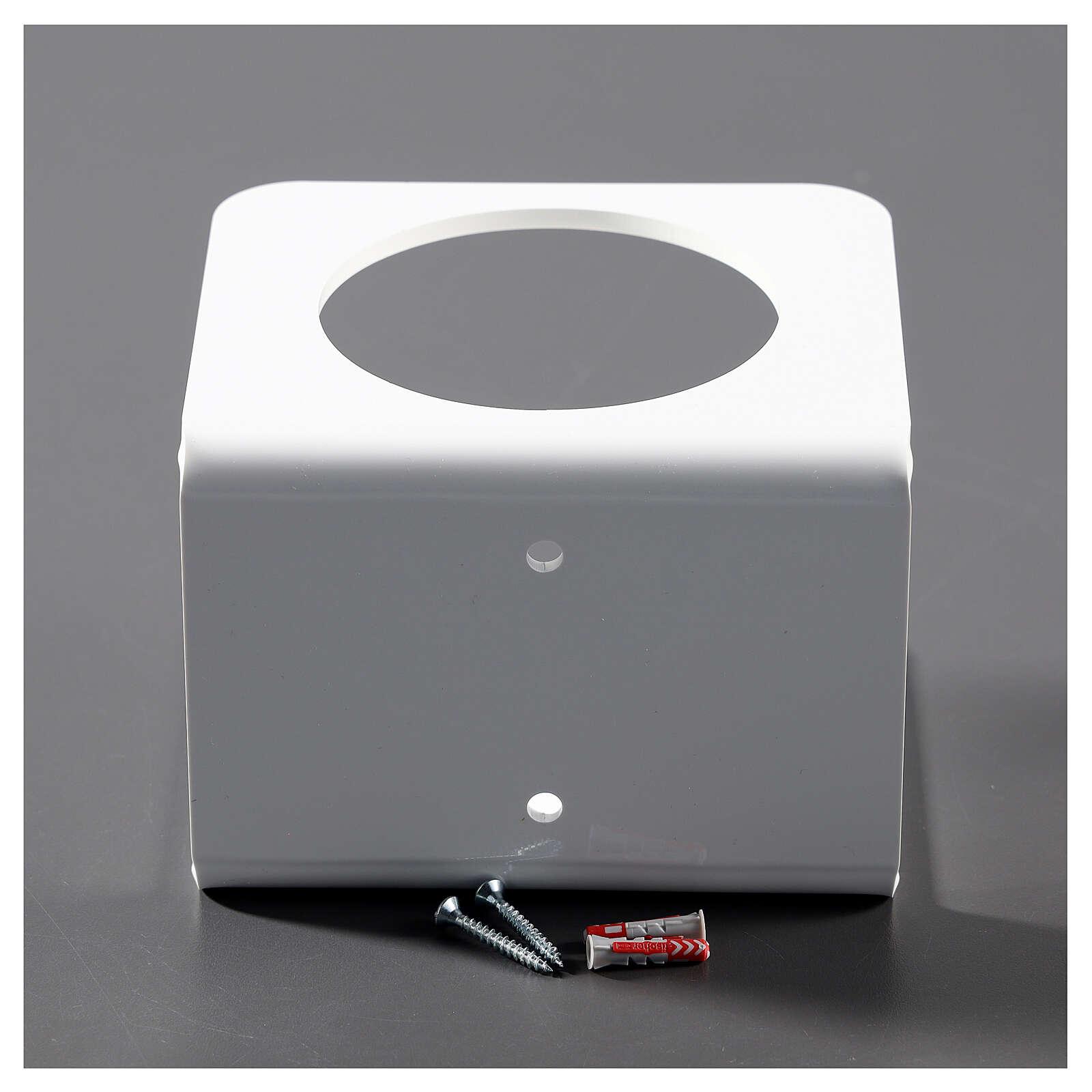 Hand sanitizer dispenser holder in white plexiglass 3