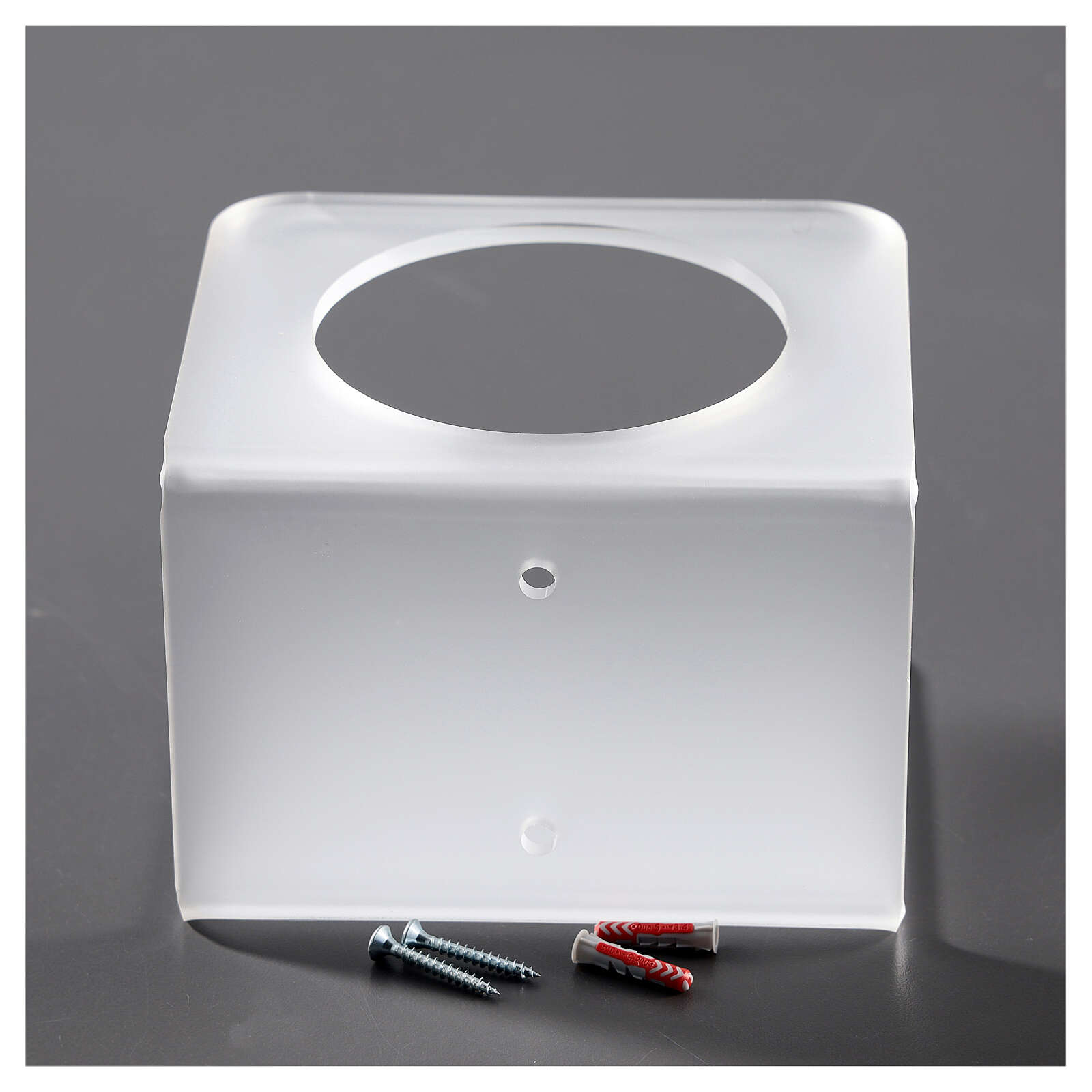 Wall-mounted dispenser holder made of satin-finish plexiglass 3