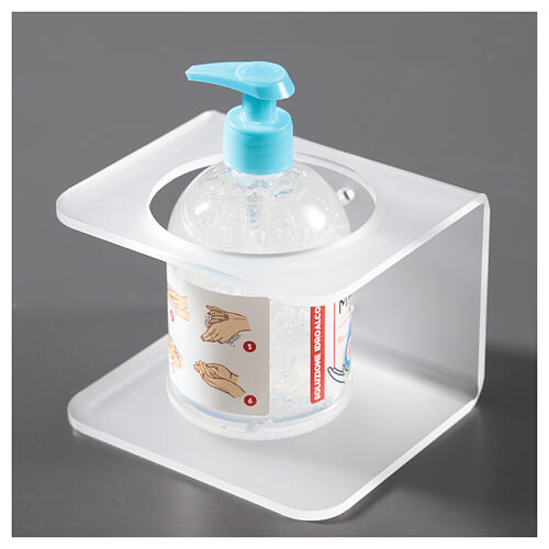 Wall-mounted dispenser holder made of satin-finish plexiglass 2