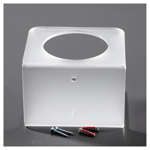 Wall-mounted dispenser holder made of satin-finish plexiglass 4
