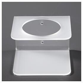 Porta dosatore da parete in plexiglass satinato s1