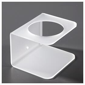 Porta dosatore da parete in plexiglass satinato s3