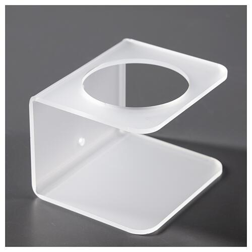 Porta dosatore da parete in plexiglass satinato 3