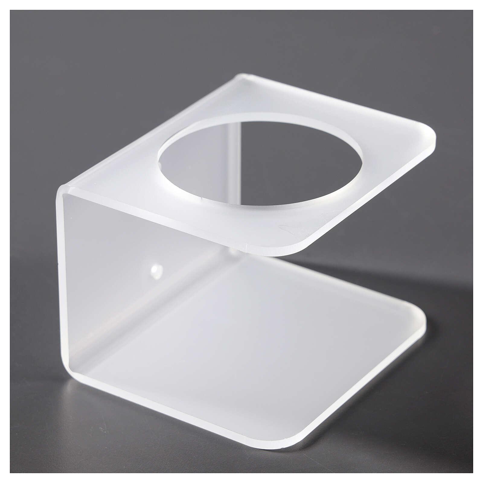 Hand sanitizer dispenser holder in plexiglass satin finish 3