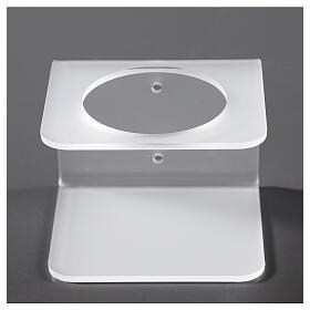 Hand sanitizer dispenser holder in plexiglass satin finish s1