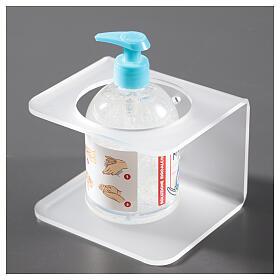 Hand sanitizer dispenser holder in plexiglass satin finish s2