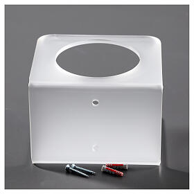 Hand sanitizer dispenser holder in plexiglass satin finish s4