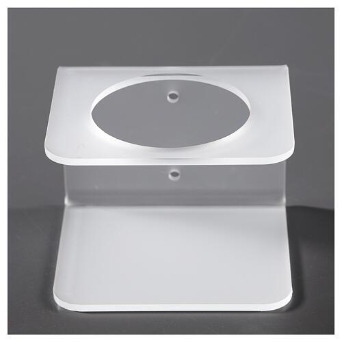 Hand sanitizer dispenser holder in plexiglass satin finish 1