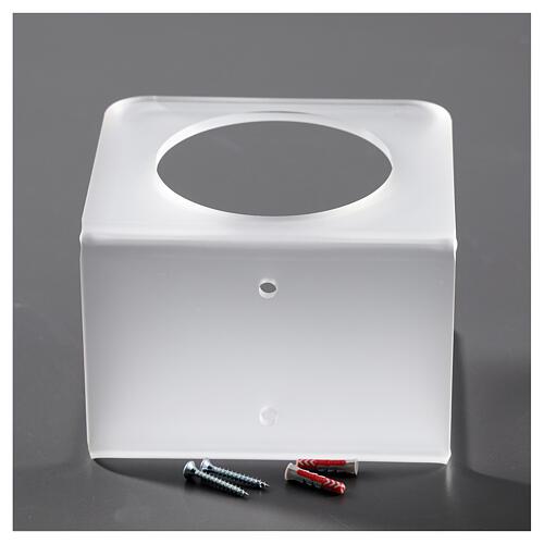 Hand sanitizer dispenser holder in plexiglass satin finish 4