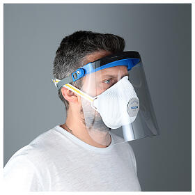 Adjustable face shield protect eyes and face against contagion s3