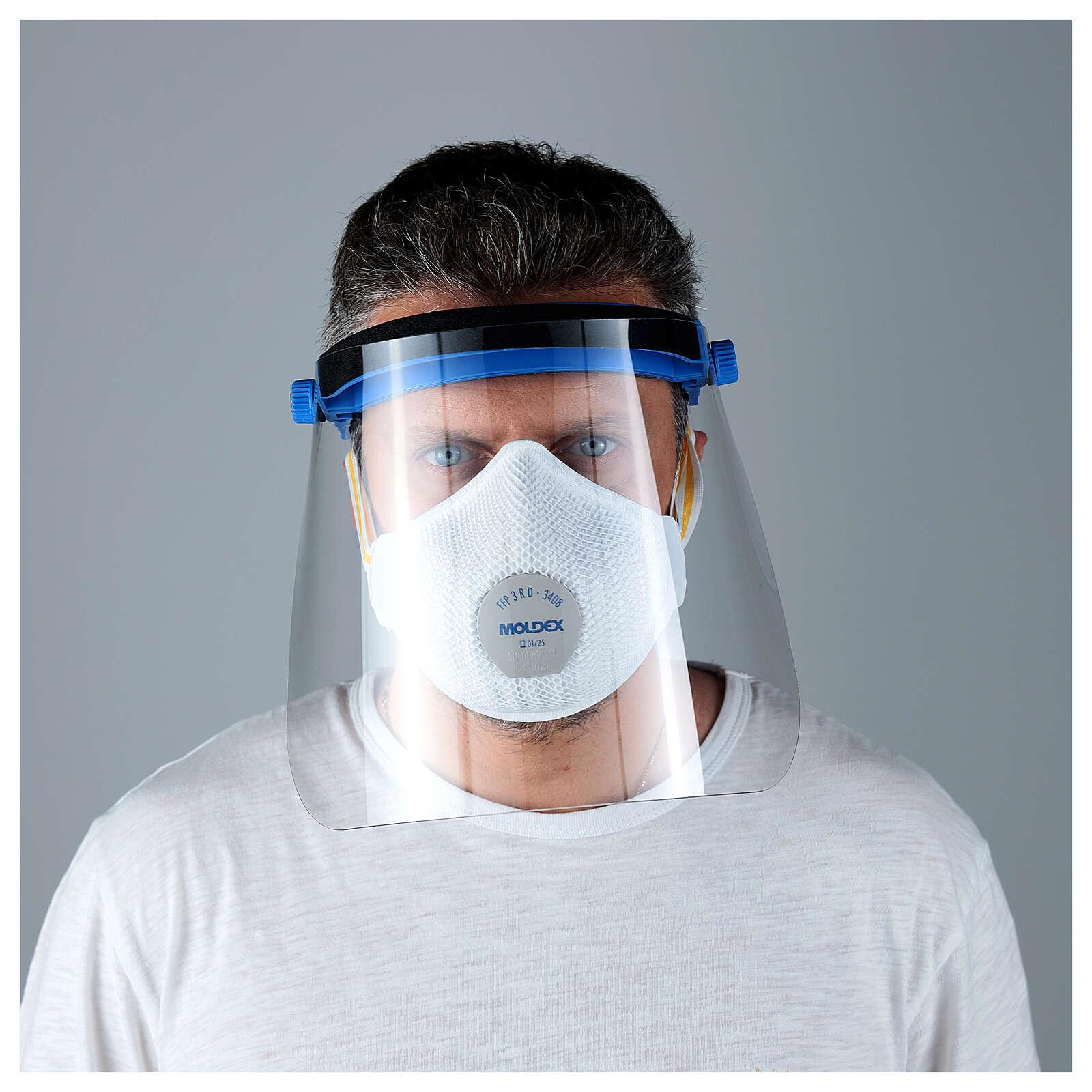 Visera Protectora de plástico transparente anti- contagio 3