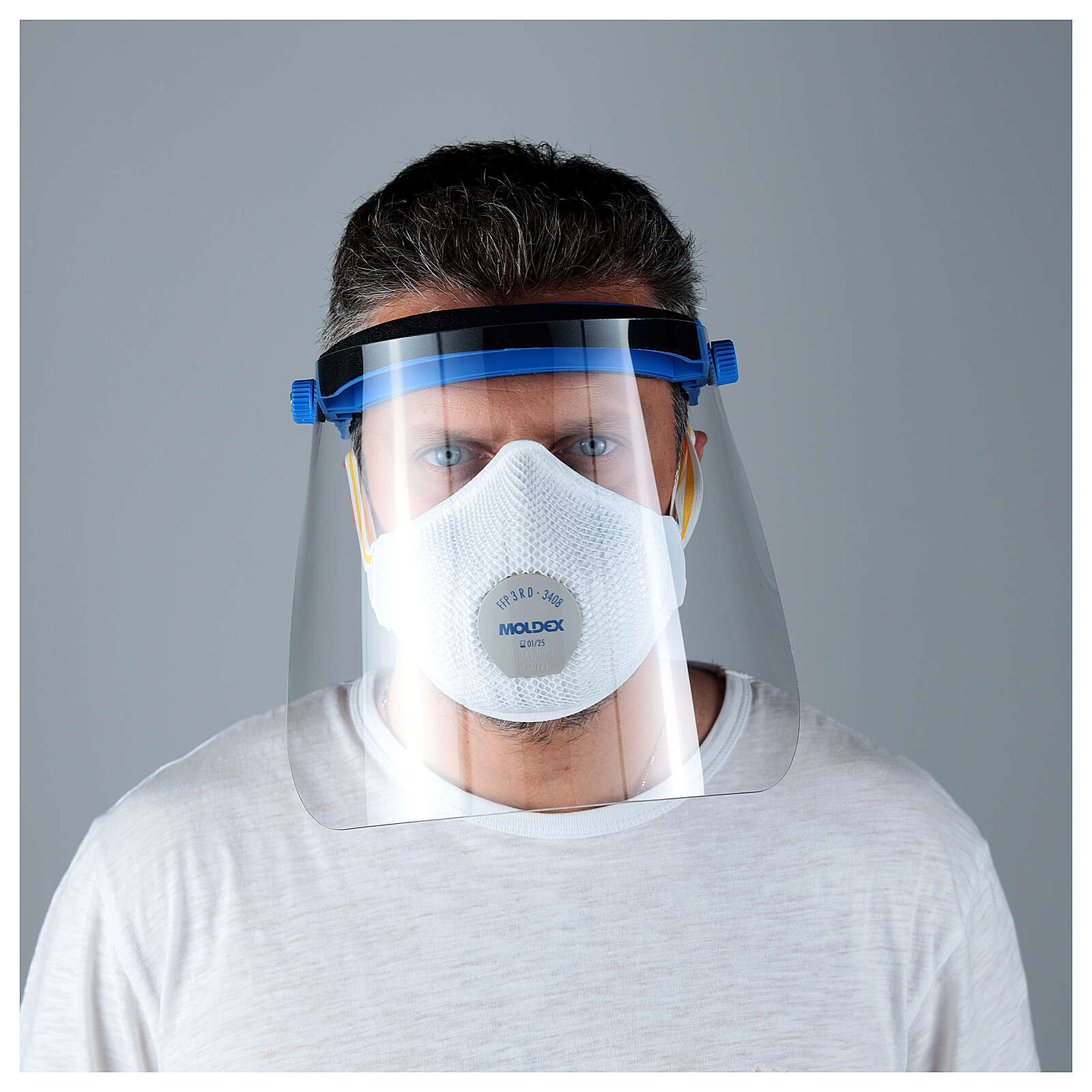 Visière de protection en plastique transparent anti-contagion 3