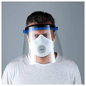Protective plastic visor against contagion s2