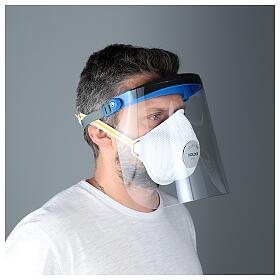 Protective plastic visor against contagion s3