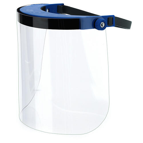 Protective plastic visor against contagion 1