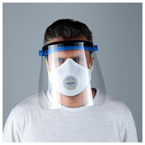 Protective plastic visor against contagion 2