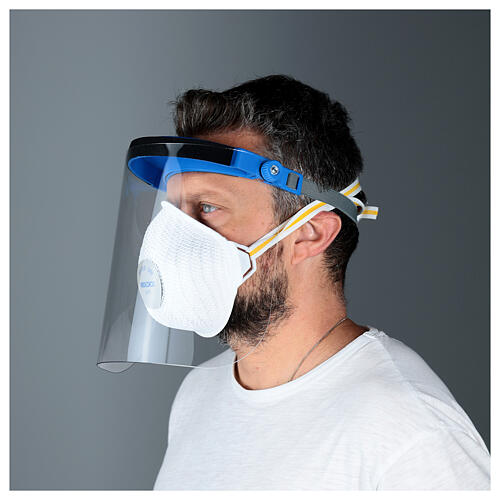 Protective plastic visor against contagion 4