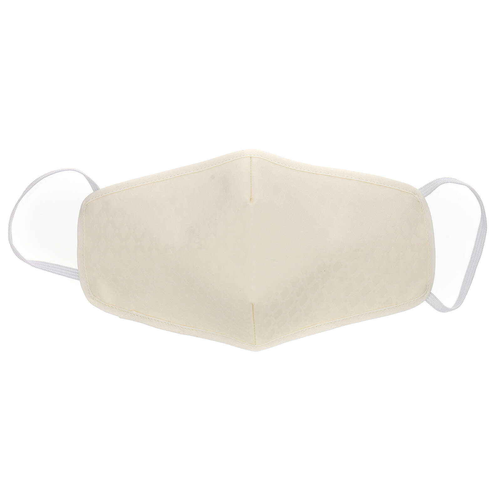 Fabric reusable face mask with ivory edge 3