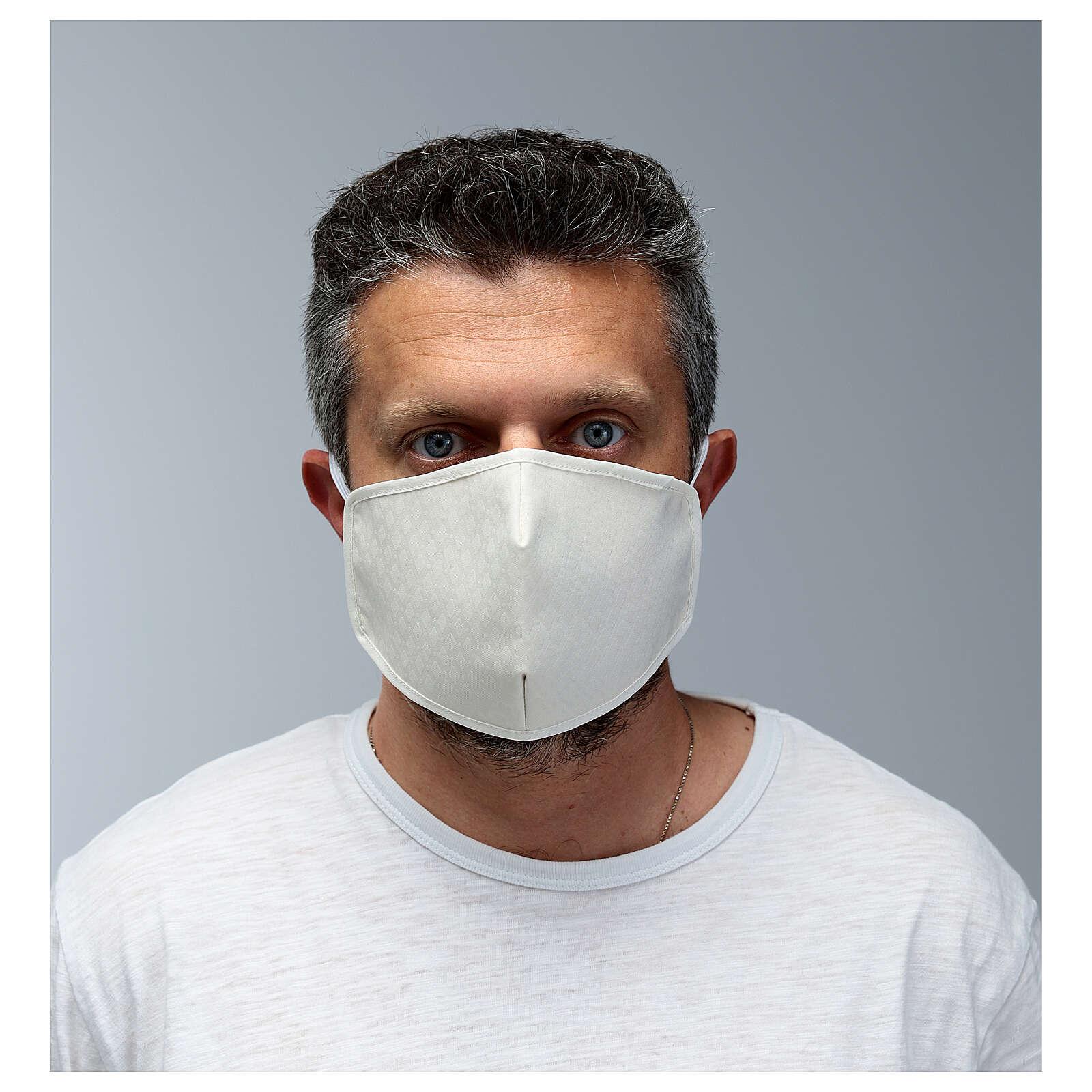 Máscara de tecido reutilizável branca 3