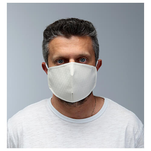 Máscara de tecido reutilizável branca 2