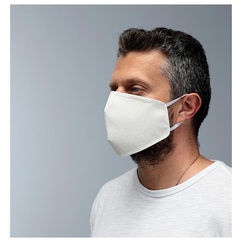 Máscara de tecido reutilizável branca 4