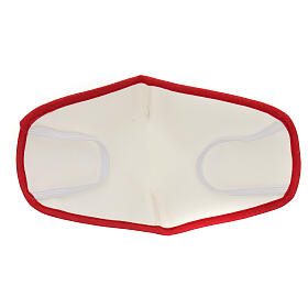 Fabric reusable face mask with red edge s5