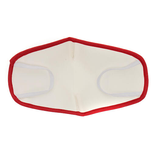 Fabric reusable face mask with red edge 5