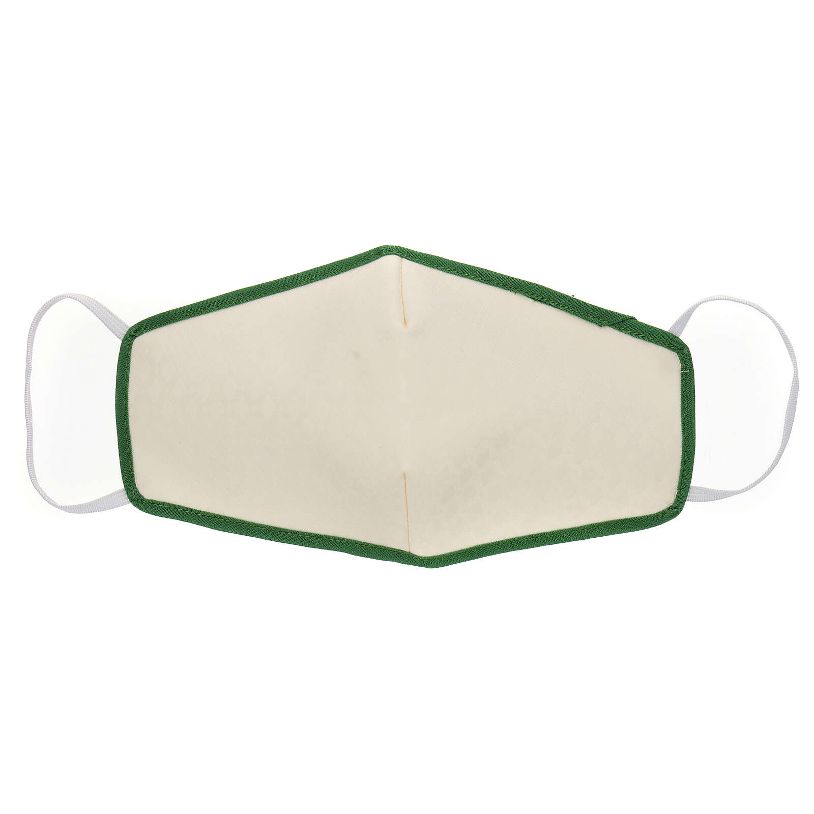 Mascarilla de tela reutilizable borde verde 3
