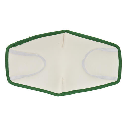 Mascarilla de tela reutilizable borde verde 5