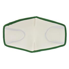 Mascherina in stoffa riutilizzabile bordo verde s5