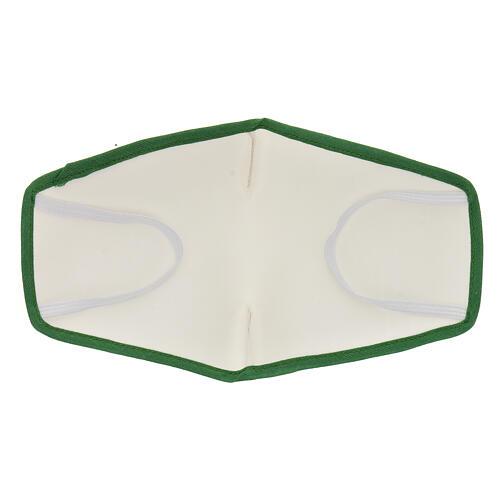 Mascherina in stoffa riutilizzabile bordo verde 5