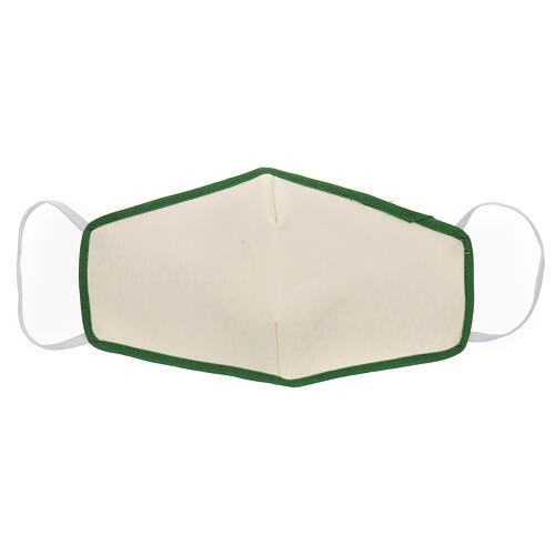 Maseczka z tkaniny wielokrotnego użytku brzeg zielony 1