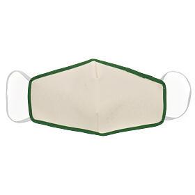 Máscara de tecido reutilizável borda verde s1