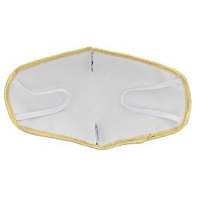Mascherina in tessuto lavabile viola/oro s5