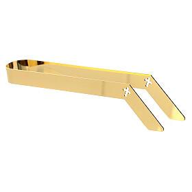 Hostienzange, 16 cm, aus vergoldetem Messing s4