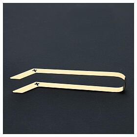 Pinzas eucarísticas hostias pequeña hostias latón dorado 16 cm s5