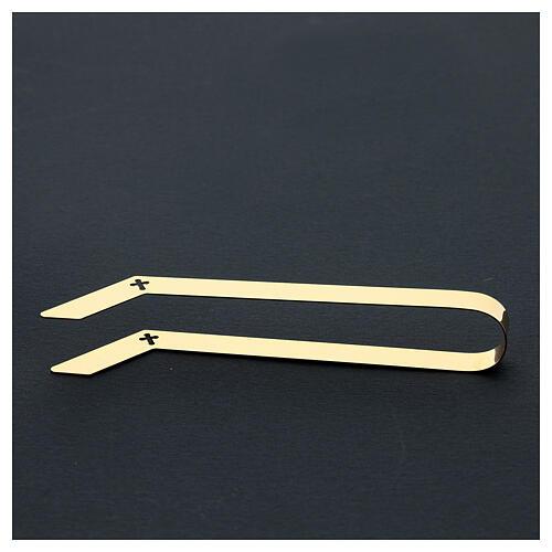 Pinces pour hosties laiton doré 16 cm 5