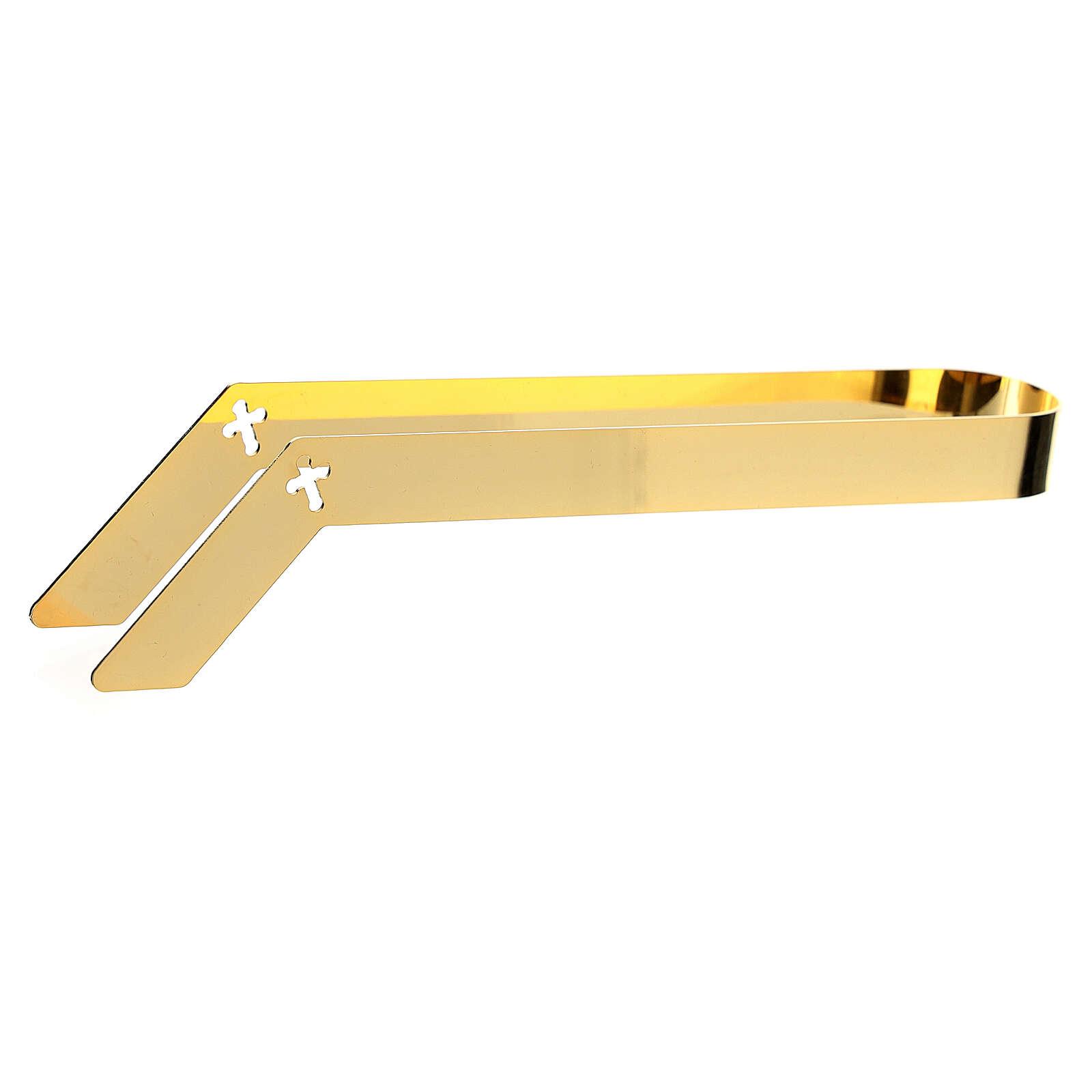 Pinze eucaristiche particole ostie ottone dorato 16 cm 3