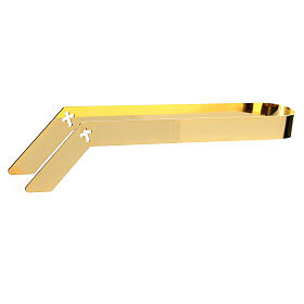 Gold plated tongs for altar bread, 16 cm s1