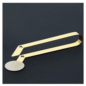 Gold plated tongs for altar bread, 16 cm s2