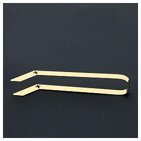 Gold plated tongs for altar bread, 16 cm s5