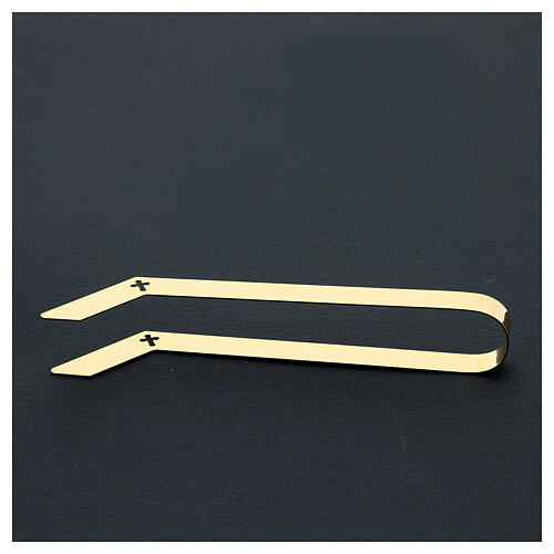 Gold plated tongs for altar bread, 16 cm 5