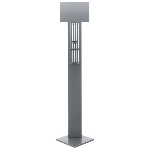Adjustable hand disinfectant dispenser stand in metal, for outdoor use 5