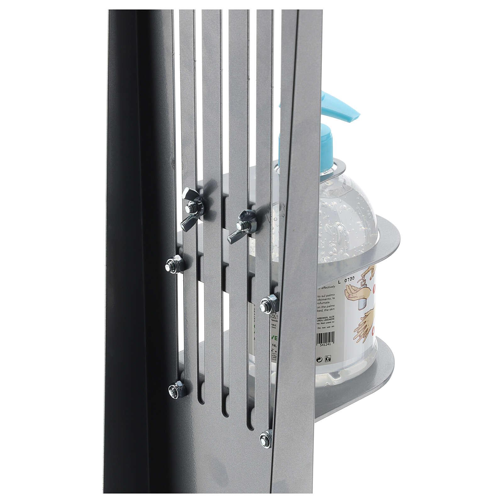 Columna para dispensador gel higienizante ajustable metal PARA EXTERIOR 3