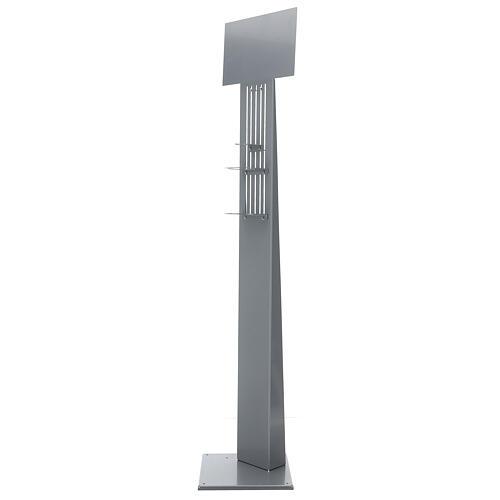 Columna para dispensador gel higienizante ajustable metal PARA EXTERIOR 1