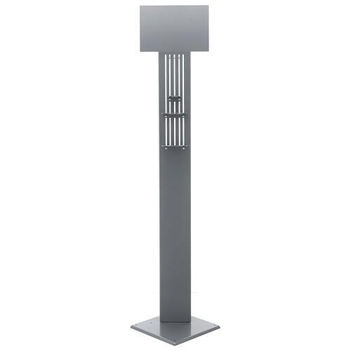 Columna para dispensador gel higienizante ajustable metal PARA EXTERIOR 5