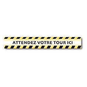 Autocollants amovibles 2 PCS - ATTENDEZ VOTRE TOUR ICI s1