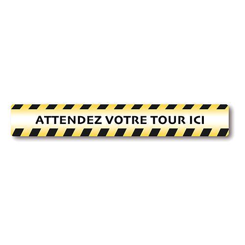 Autocollants amovibles 2 PCS - ATTENDEZ VOTRE TOUR ICI 1